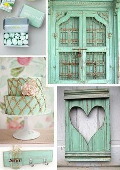 Mint and gold is a very refined and beautiful color scheme (yeah, I'm a sucker of mint color! Calm mint and sparkling gold mix so well together! There are lots of ideas to combine them Dusty Blue, Gold Wedding, Summer Wedding, Wedding In The Woods, Mint Color, Beach Themes, Wedding Inspiration, Wedding Ideas, Color Schemes
