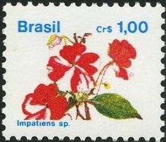Selos: Brazilian Flora. Impatiens sp. (Brasil) (Flora) Mi:BR 2387,Sn:BR 2259,Yt:BR 1993,RHM:BR 676