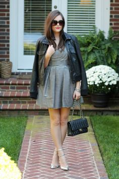 Daughter, does this look familiar?? You could maybe wear a denim jacket w/ your striped dress.