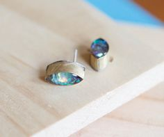 OPAL ABYSS STUDS / opal marquise studs by Blydesign on Etsy