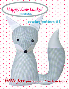 Free fox sewing pattern for softie or for night light.