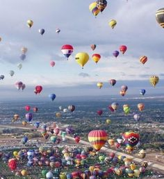 Albuquerque, New Mexico.  Balloon Fiesta.  This one is surely one of the prettiest balloon festivals.