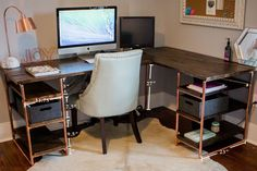 DIY Office computer desk by Amanda May Photos