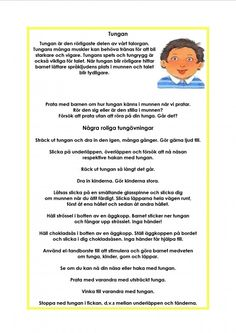Munmotoriskt kompendium Alternative Health, Alternative Medicine, Body Preschool, Learn Swedish, Swedish Language, Massage Therapy, Speech And Language, Pre School, Children