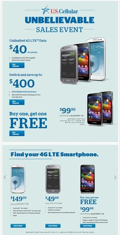 Check out the deals going on now at U.S. Cellular. USCC Customer Crew Member