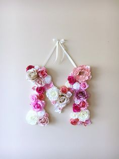 Flor letras letras Floral primavera decoración de por PaulettaStore