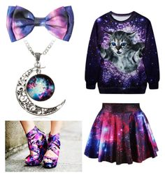 Galaxy by mintynoelle on Polyvore featuring polyvore, fashion and style