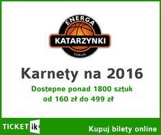 Jesteś fanem Katarzynek? Skorzystaj z naszej oferty karnetów na sezon 2016. Dostępna cała pula karnetów w zróżnicowanych cenach od VIPowskich po sektorowe. Więcej tutaj: http://ticketik.pl/#!/Wydarzenie/12