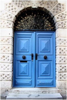 Ljubljana, Slovenia - I want big blue doors either outside or inside my house.