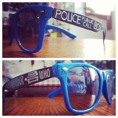 TARDIS Glasses.  TARDIS glasses are cool.