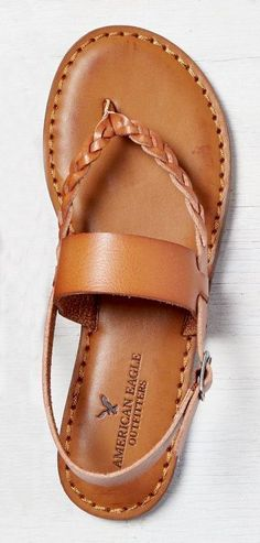 d4c5235ad Tan AEO Braided   Wide Strap Sandal - I am going to have to chase these up