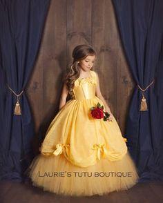 Best 12 Belle Dress- Princess Belle Tutu Dress- Belle Costume- Beauty and the Beast Belle Tutu, Belle Dress Kids, Tutu Diy, Little Girl Dresses, Flower Girl Dresses, Tutu Dresses, Baby Dress, Dress Up, Baby Skirt