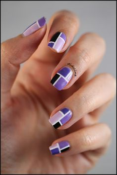 Purple Geometric Nails