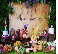 Awesome dessert table at a Peter Pan birthday party!  See more party planning ideas at CatchMyParty.com!