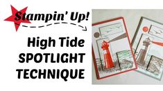 How to do the spotlight technique with stampin up high tide and rectangle stitch framelit dies