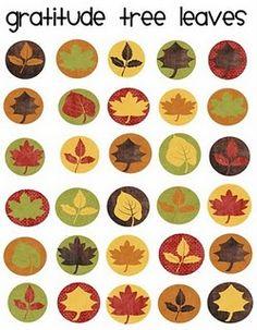FREE printable leaves stickers