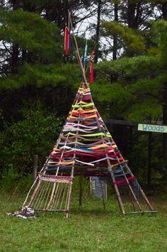 Rainbow weave teepee