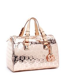 Buying this! Michael Kors satchel in rose gold