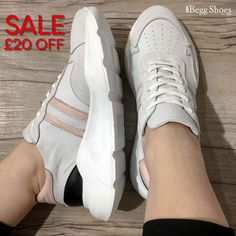 ⚠️ TREND ALERT £20 off these #chunkysneakers - leather uppers for a super comfortable fit! Sizes 37 - 40 Now £69.99, was £89.99 Get them here 👉 www.beggshoes.com/creator-magstripe-19362-66 Grey Leather, Smooth Leather, Bags 2014, Chunky Sneakers, Lady Grey, Sports Luxe, Leather Trainers, Pink Heels, Summer Sandals