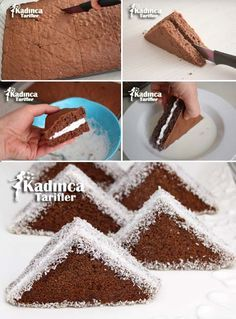 Triangle Cake Recipe, How to Make? - Feminine Recipes - Delicious, Practical and Most Exquisite Recipes Site -Portion Triangle Cake Recipe, How to Make? - Feminine Recipes - Delicious, Practical and Most Exquisite Recipes Site - Beef Pies, Mince Pies, Recipe Sites, Pie Recipes, Pasta Recipes, Green Curry Chicken, Red Wine Gravy, Egg Pie, Onion Pie