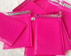 Shipping -- Pink Envelopes I always talk about! :) They are Amazing!!! (6.25 x 9.25 Pink) find them @ http://www.mailersusa.com/colored-poly-bubble-mailers.html