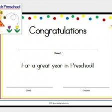 Preschool Graduation Certificate Template Free | school ...