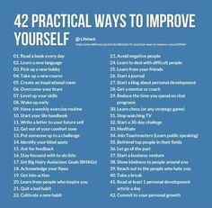 42 ways to improve yourself!