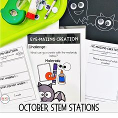 October Halloween STEM activities with differentiated reflection sheets