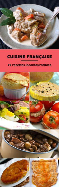 Blanquette, boeuf bourguignon, choucroute, filet mignon, salade niçoise et plein d'atres plats français qui sont de véritables trésors de nos terroirs et que toutle monde va adorer.