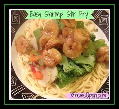 Easy Shrimp Stir Fry Recipe #shrimprecipe #stirfry #easydinner - Ready in 20 minutes with minimal clean up!  XtremeQpon.com