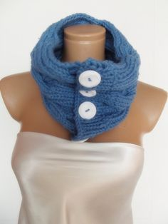 Womens Mens unisex neckwarmer cowl cabled pattern by smilingpoet, $39.90