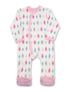 Attractive, vibrant colors make our signature Penguins pop on this luxurious organic cotton romper. Our soft, natural fibers are gentle on baby's skin and the generous cut of the garment make it fun t