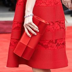 Magrit Mary red satin panel flap clutch bag. new red clutch bag with a satin panel down the centre.