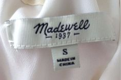 Madewell-  sells for over $50 used