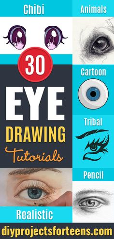 Eye Drawing Tutorials - Pencil Portrait of an Eye - Easy Ways to Learn How to Draw Eyes - How To Draw A Realistic Eye - Shading Eyes, Coloring Techniques and Step by Step Tutorials for Eye Drawings Realistic Eye, Realistic Drawings, Eye Drawings, Manga Eyes, Draw Eyes, Drawing Skills, Drawing Lessons, Tribal Style, Easy Anime Eyes