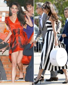 Amal Alamuddin Dazzles in 4 Chic Wedding Weekend Frocks  #InStyle