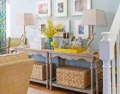 how to decorate a very long wall. - Houzz