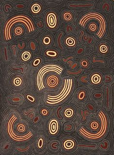 Cowboy Louie Pwerle - Initiation Ceremony - 125 x 96 cm http://www.aboriginalsignature.com/art-aborigene-utopia/cowboy-louie-pwerle-initiation-ceremony-125-x-96-cm