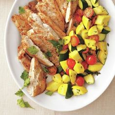 Chicken with Summer Vegetables by All You. MyRecipes recommends that you make this Chicken with Summer Vegetables recipe from All You