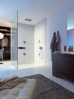 modern architecture - interior view - bathroom - hans grohe international - the axor brand - axor shower collection with philippe starck