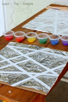 Tape Resist Art on Foil ~ Learn Play Imagine