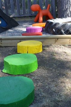 A Colorful & Inspired Backyard Playground — Rusta Upp | Apartment Therapy