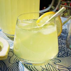 Old Fashioned Lemonade made with parred lemon peel, sugar and boiling water to which lemon juice is added.