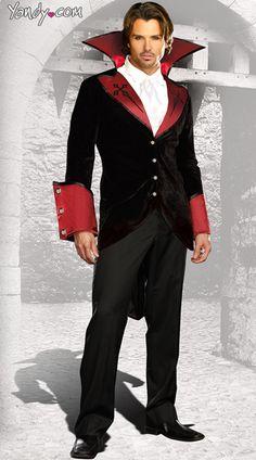 Yandy has hundreds of vampire costumes like this Men's Just One Bite! #Yandy Vampire Costumes, Scary Costumes, Sexy Halloween Costumes, Cosplay Costumes, Easy Halloween, Male Vampire, Sexy Corset, Girls Wear, High Collar