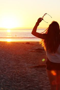 Summer time #beach #sunset <3