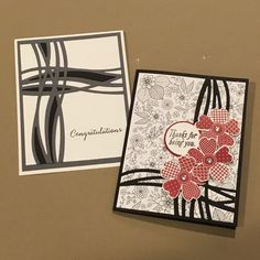 Stampin Up! Swirly scribbles framelits, flower shop stamps, SAB inside the lines DSP Stampin Up Catalog, Stamping Up Cards, Scribble, Watercolour, Poppies, Card Ideas, Birthday Cards, Stamps, Birthdays