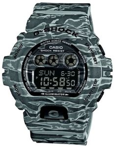 CASIO G-SHOCK Mod.GD-X6900CM8DR G-CLASSIC ARMY CAMO GRAY ROCK Shock & Magnetic resistant Resin Case & Strap Super Illuminator World time 31 zones - 5 daily alarms Snooze alarm Hourly Time Signal Count