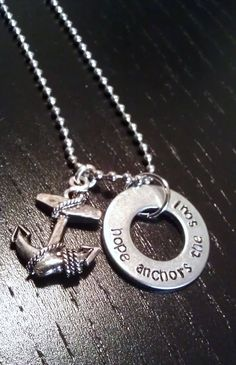 Custom Necklace Hope Anchors the Soul Necklace - Personalized Jewelry. $22.00, via Etsy.