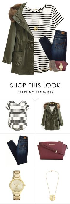 """""""Almost to 200 followers!"""" by your-daily-prep ❤ liked on Polyvore featuring H&M, American Eagle Outfitters, MICHAEL Michael Kors, Kate Spade, Sbicca, women's clothing, women's fashion, women, female and woman"""