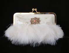 Ivory Satin Clutch/Purse/HandbagWedding by PetiteVintageBags, $130.00